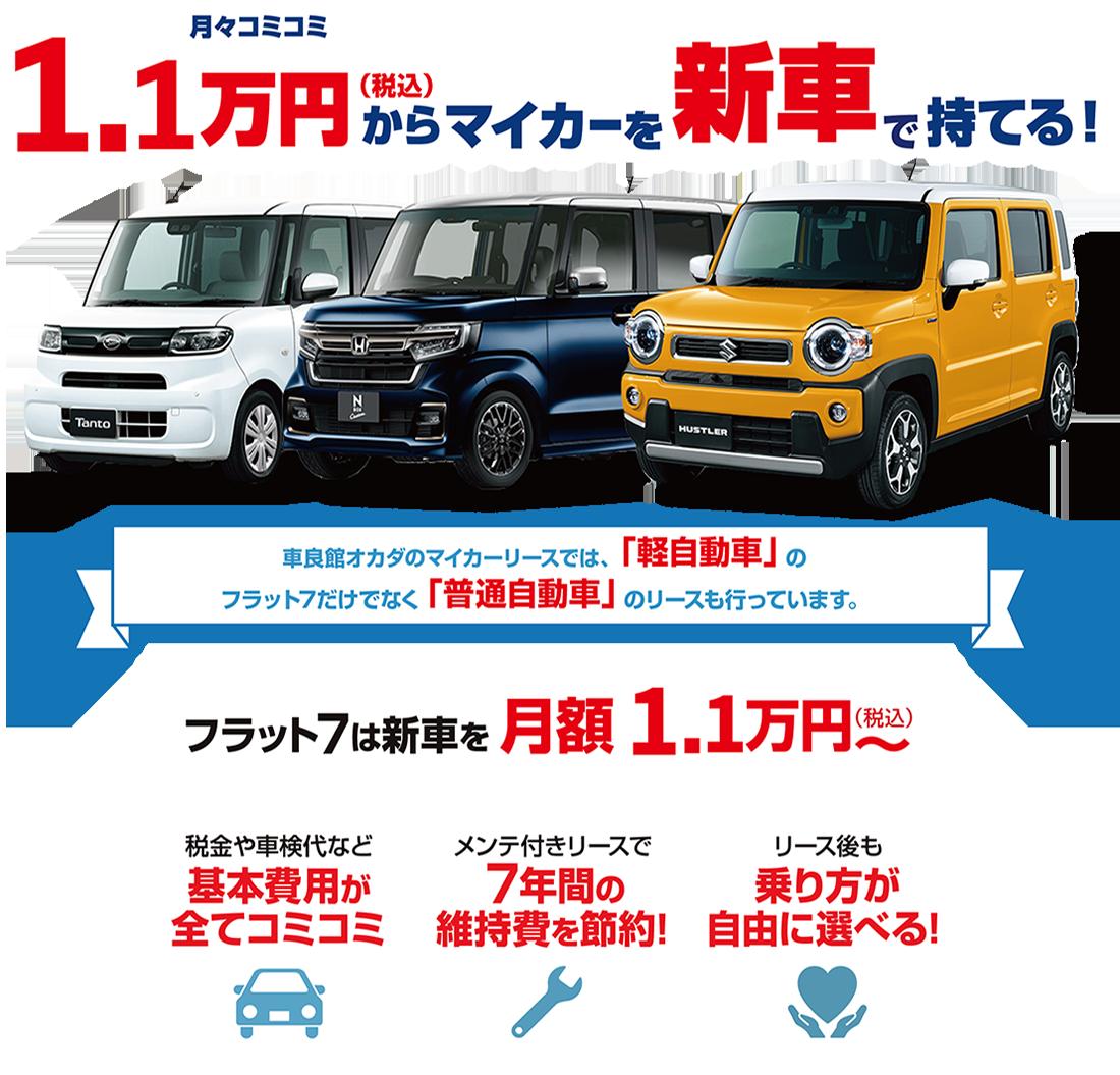 フラット7 毎月コミコミ1万円から